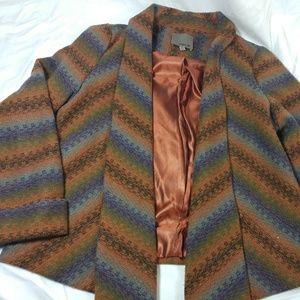 Aryn K womens xsmall jacket waterfall front blazer